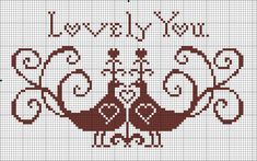 lovely you valentine's day free cross stitch chart Cross Stitch Sampler Patterns, Free Cross Stitch Charts, Cross Stitch Freebies, Cross Stitch Heart, Cross Stitch Samplers, Modern Cross Stitch Patterns, Cross Stitch Animals, Cross Stitch Designs, Cross Stitching