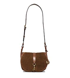 Jamie Large Suede Crossbody by Michael Kors
