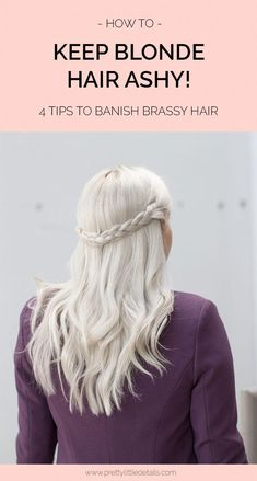 How to keep blonde hair looking ashy and get rid of brassy tones. #CoconutOilHairCare Ashy Blonde Hair, Brassy Blonde, Blonde Hair Care, Blonde Hair Looks, Brunette Hair, Tone Hair At Home, Colored Hair Tips, Hair Thickening, Platinum Blonde Hair