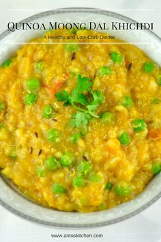 Quinoa moong dal khichdi is a healthy and low-carb dinner with quinoa, moong dal and vegetables. Quinoa and moong dal together make a filling and tasty dinner. Quinoa Indian Recipes, Millet Recipes, Veg Recipes, Baby Food Recipes, Vegetarian Recipes, Cooking Recipes, Healthy Recipes, Healthy Dishes, Cooking Tips