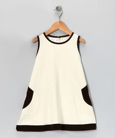 Another great find on #zulily! Kids Organic Natural & Chocolate Dress - Infant & Toddler by Kids Organic #zulilyfinds