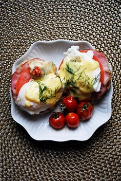 Eggs Benedict with tomato and mozz   bs in the kitchen