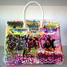 Two Artists Transform An Hermes Birkin Bag Into A Pop Culture Masterpiece By Covering It In Graffiti