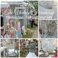Creating Vintage Charm: An Enchanted Spring Market by The Vintage Farmhouse