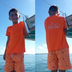 Awesome day on the water!  Caleb showing off his new youth Reel Fishy performance dri-fit shirt. Reel Fishy Apparel | Reel Fishy | Beach Life | Salt Life | Fishing | Tarpon | Fishing Apparel | Fishing Gear | Florida Fishing | Performance Shirts | UV Sun Protection | Rash Guard | Performance Dry-Fit Shirt | Sun Protection Shirt | Youth Fishing Shirt | Youth Dry-Fit Shirt | Youth Performance Shirt