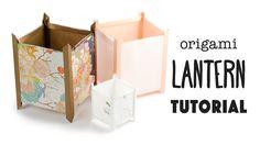 Origami Paper Lantern Tutorial - Japanese Andon Lamp 行灯 - Paper Kawaii #origami #paperkawaii