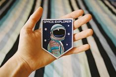 space, astronaut, and hand image