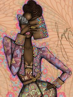 """""""HoruSpring""""   Papa Oppong for VLISCO   From the... - LIfe Of An African Fashion Illustrator"""
