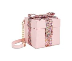 NWT-Betsey-Johnson-034-Gift-Box-034-Pink-Sequin-Crossbody-Bag-SOLD-OUT-EVERYWHERE