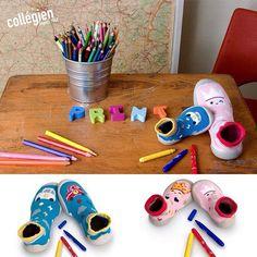 Sabatilles d'estar per casa Collégien, per a pintar una vegada i una altra amb els marcadors rentables! #nens #kids #instakids #kidsshoes #houseshoes #zapatillas #pantunflas #calcetines #calcetinesmolones #collegien #instashoes #kidsfashion #fashionchildren #BabyFashion #babyshoes #Moccs #Babymoccs