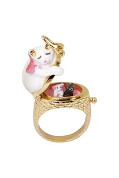 Cat Nap locket Ring adjustable ring is light and comfortable to wear. Hippie Style, Cute Jewelry, Charm Jewelry, Jewelry Box, Types Of Cats, Cat Ring, Ring Ring, Kitten Care, Thing 1