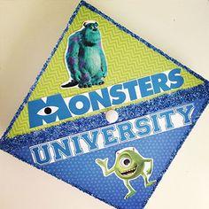 Monsters Inc Graduation Cap (Disney Pixar Graduation Caps all graduates MUST see)