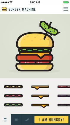 Burger Machine App by Justas Galaburda for Studio4   Creative