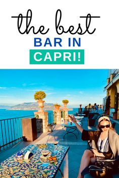 The bar terrace of the Hotel Ceasar Augustus, located in the centre of Anacapri was recommended to us by... ITALY / CAPRI / CAPRI ITALY HOTELS / LUXURY CAPRI HOTELS / AMALFI COAST ITALY / BOUTIQUE HOTELS ITALY / BEST ITALIAN BAR / ITALY ROOFTOP BAR / UNIQUE RESTAURANTS / BEAUTIFUL RESTAURANTS / NATURE RESTAURANT #ITALY #CAPRI #BESTPLACESINITALY #BESTOFCAPRI via @daweswideopen FAVOURITE CITIES OF THE WORLD