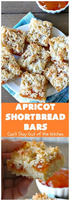 Apricot Cream Cheese Cookies – Can't Stay Out of the Kitchen Shortbread Bars, Shortbread Recipes, Cookie Recipes, Dessert Recipes, Yummy Recipes, Apricot Bars, Coconut Pecan, Coconut Jam, Cream Cheese Cookies