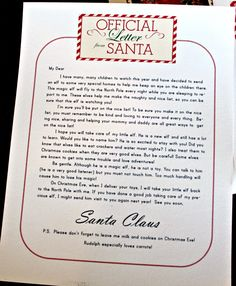 Elf On the Shelf Letter From Santa | Lily & Thistle: Dear Santa, Some Merry Elves and Free Printables
