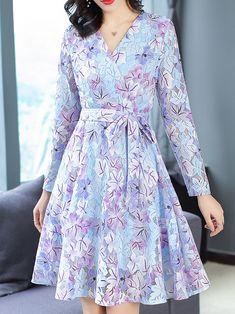 V-Neck Sleeveless Lace Lacing Floral Dress Floral Skater Dress, Floral Lace Dress, Silk Dress, Chic Dress, Flare Dress, Dress Outfits, Fashion Dresses, Skater Outfits, Sunmer Dresses