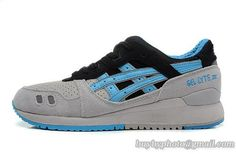 Men's Asics Gel Lyte III Sneaker H304L Gray Blue|only US$95.00 - follow me to pick up couopons.