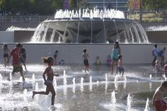 Splash pads are the new public pools - Curbedclockmenumore-arrow : Immersive fountains keep residents cool while creating urban hot spots
