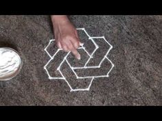 6 dots rangoli /daily easy rangoli/ simple rangoli/ chukki rangoli with 6 dots/ಚುಕ್ಕಿ ರಂಗೋಲಿ Simple Rangoli Kolam, Easy Rangoli Designs Diwali, Small Rangoli Design, Rangoli Designs Images, Rangoli Designs With Dots, Diwali Rangoli, Rangoli With Dots, Beautiful Rangoli Designs, Dot Rangoli