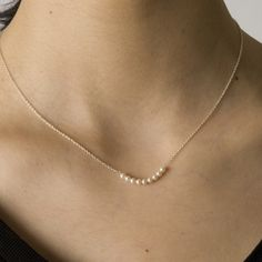 sweet and simple - Pearls silver necklace from Flashy era
