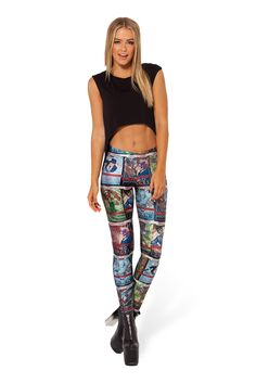 Gotham's Most Wanted Leggings by Black Milk Clothing $85AUD