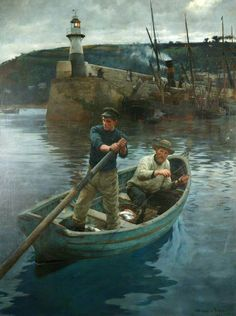 The Lighthouse (Newlyn, Cornwall) by Stanhope Alexander Forbes. oil on canvas. 228.5 x 173.2 cm.