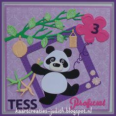 Kaarten en Creaties van Judith: Tess is jarig...