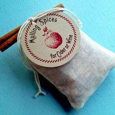 Mulling Spices Sachet - Gift, fall or winter wedding favor
