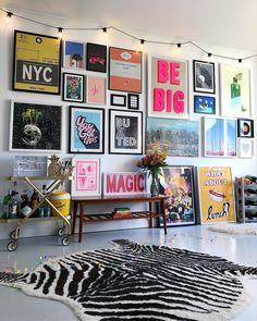 "COLOR PLACE INTERIOR on Instagram: ""@nest_twenty_eight ・・・ . . . . . #gallerywall #popofcolour #fearlesshome #interiorgoals #gallerywallgoals #walltowallstyle #wallart…"""