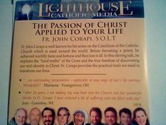 FR John Corapi The Passion of Christ Applied to Your Life,Lighthouse Catholic CD…