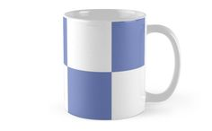 #Purple And #White #Checkered Print #Mug by KCavender