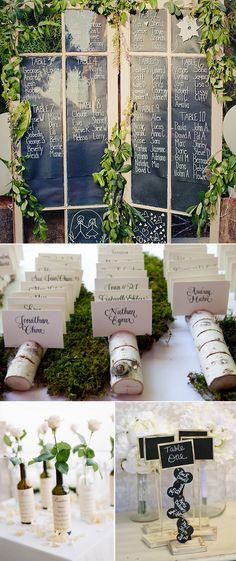Ideas originales para colocar las listas de invitados en las bodas