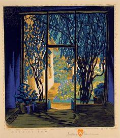 Morning Sun, woodblock print by Gustave Baumann