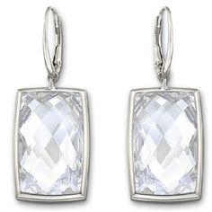 Swarovski Nirvana Retângulo Branco pequeno brincos de cristal 1144364