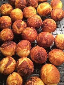 Breidablikkfruen: Glutenfrie Munker Kefir, Pretzel Bites, Potatoes, Peach, Bread, Vegetables, Fruit, Food, Potato