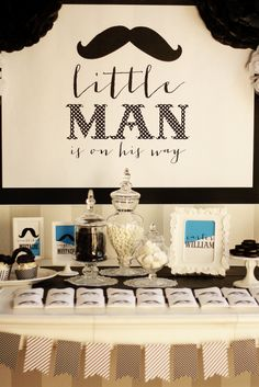 Just some pictures of the decor from Annie's Little Man Mustache Bash Baby Shower