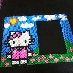 Hello Kitty photo frame hama beads by Liza Jakobsson
