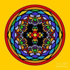 Digital Art Photography, Image Photography, Wall Art Prints, Canvas Prints, Kaleidoscopes, Circle Shape, Yellow Background, My Images, Fine Art America