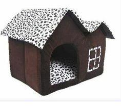 RunHigh Pets Supplies Kennel Dot Double Rooftop House Shape Bed Sleeping Nest for Dog Cat *** Check this awesome product by going to the link at the image. (This is an affiliate link and I receive a commission for the sales)