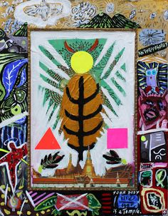 Victor Tricar- Anthroposophy/ Acrylic/oil pastel and collage on board - 2015