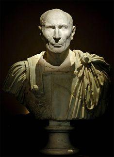 Notable man, Roman bust (marble), 1st century BC, (Kunsthistorisches Museum, Vienna).