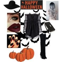 Trick or Treat by empirecase on Polyvore featuring Anja, Aquazzura, Monki, Klix, Sixtrees and Allstate Floral