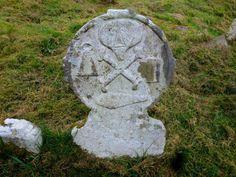 Ancient Gravestone, Pubble Cemetery, nr. Enniskillen, Co. Fermanagh, northern Ireland