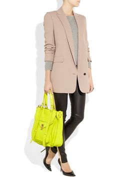 Proenza Schouler  PS1 neon leather tote  $1,995