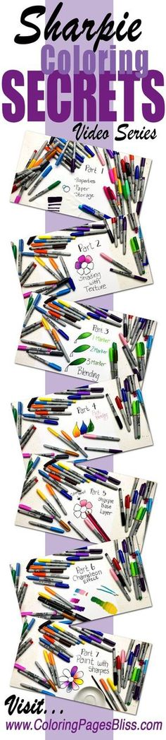 """I am excited to share with you my new video series called """"Sharpie Coloring Secrets."""" I show you several fun and exciting Sharpie coloring techniques that you may never have seen or considered. And of course these techniques work with most any brand of alcohol markers including Copic, Spectrum Noir and Bic. This is a…"""