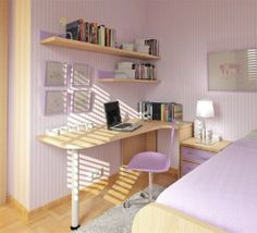 Small space design for bedroom.