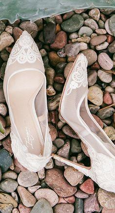 Lace bridal heels