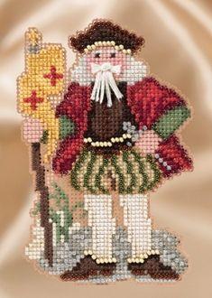 Mill Hill Renaissance Genoa Santa MH20-1633 Christmas Ornament beaded counted cross stitch kit