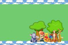 Meus Amigos Tigrão e Pooh – Kit Completo com molduras para convites, rótulos para guloseimas, lembrancinhas e imagens!  Fazendo a Nossa Festa